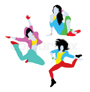313x320 Contemporary Dancer Pose Silhouette. Good Use For Symbol, Icon