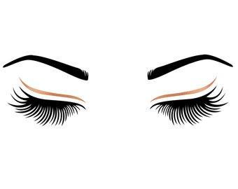340x270 Eyelashes And Eyebrows Svg Bundle Cut File Modern Anastasia