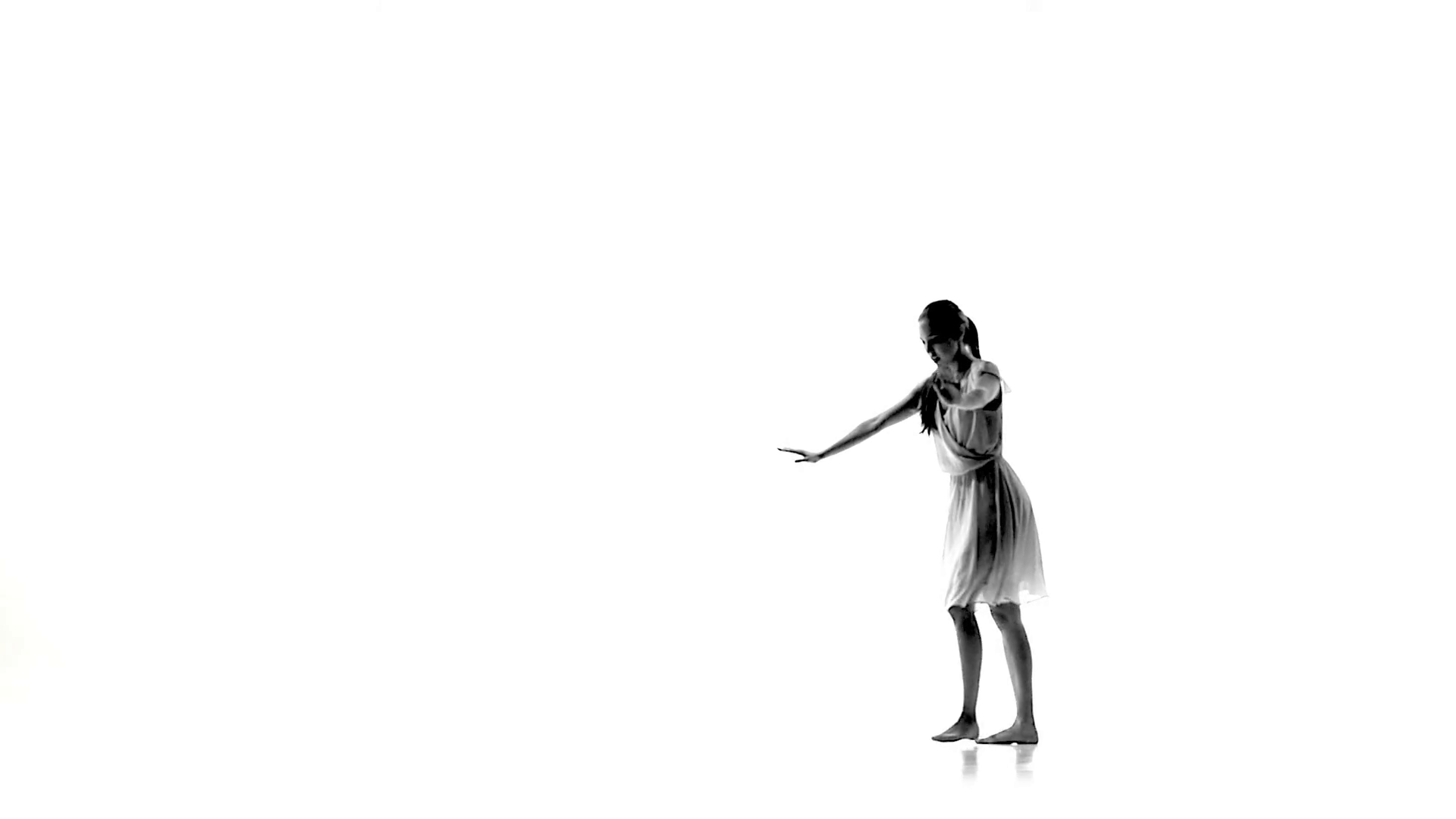 1920x1080 Graceful Girl With Long Hair Continue Dance Modern Contemporary