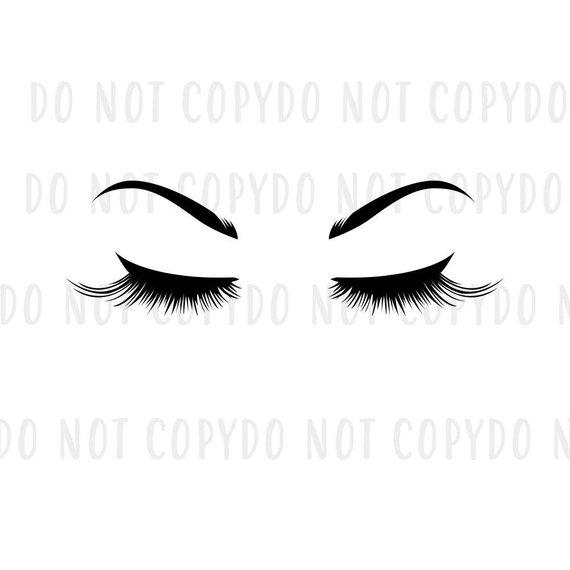 570x570 Svg Eyelashes And Eyebrows Bundle Cut File, Modern Anastasia
