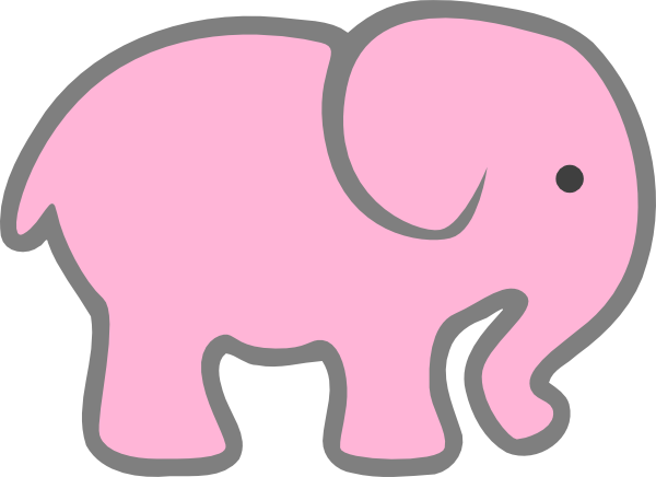 600x436 Pink And Gray Elephant Clipart Amp Pink And Gray Elephant Clip Art