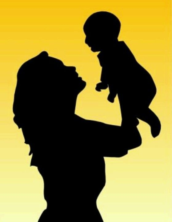 559x720 Mom And Baby Silhouette Paper Cuts Baby Silhouette