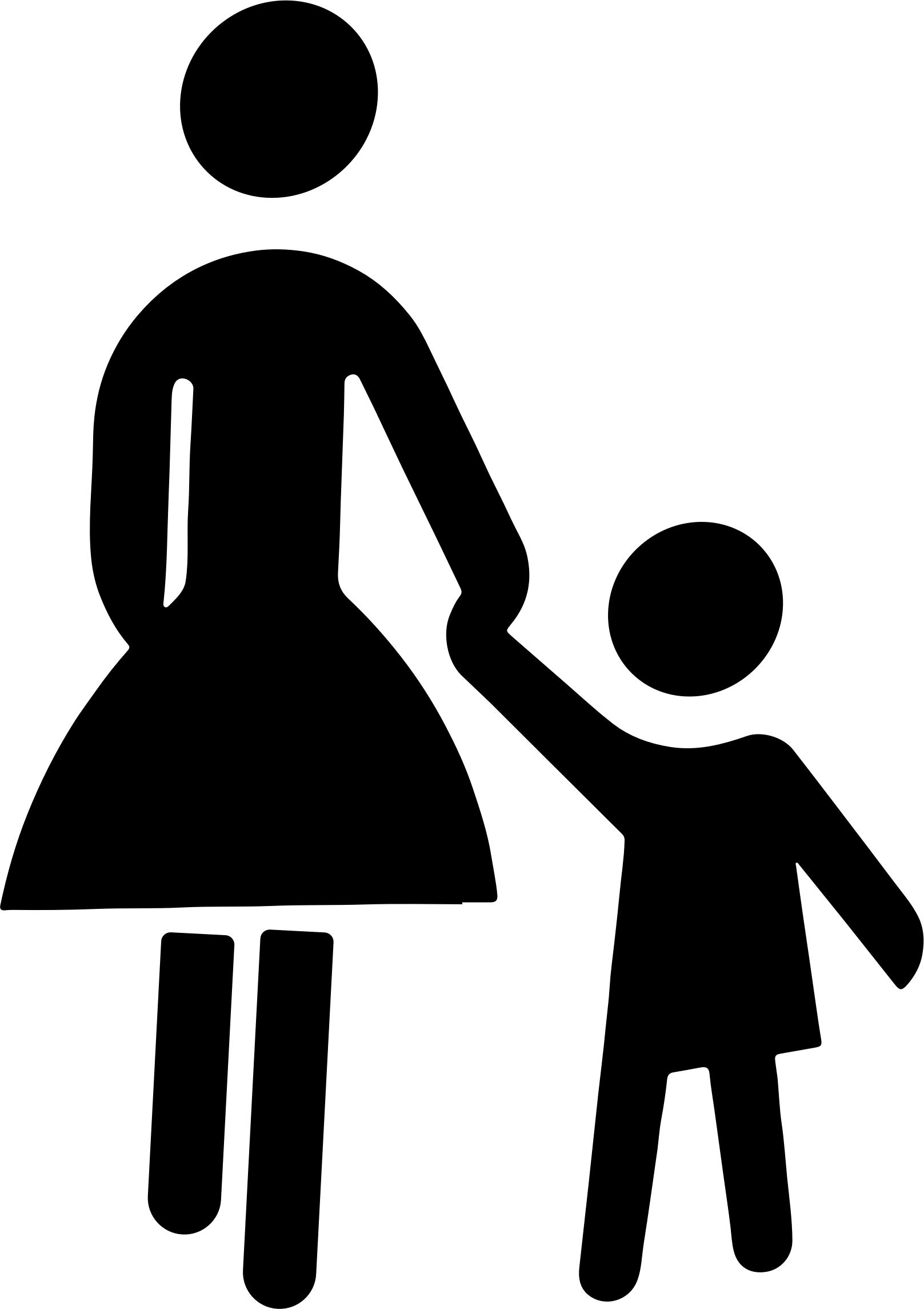 1617x2290 Mother And Child Holding Hands Silhouette Icons Png