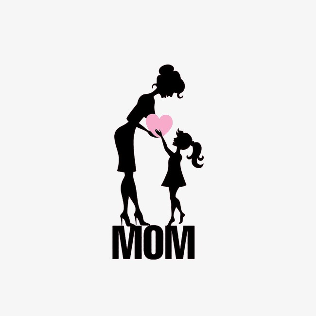 650x650 Mom And Daughter,silhouette Figures, Mom And Daughter, Silhouette