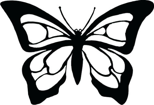 500x342 Monarch Butterfly Outline Free Download Best Monarch Butterfly