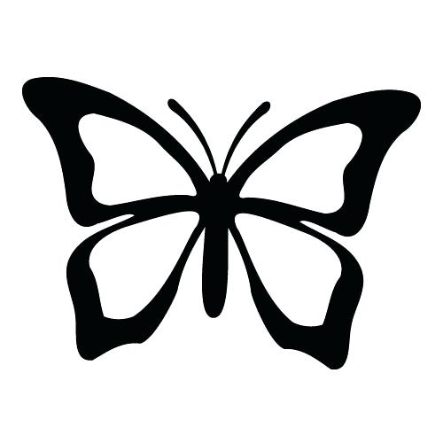 500x500 Silhouette Butterfly Butterfly Vinyl Wall Art Mirrors And Vinyl