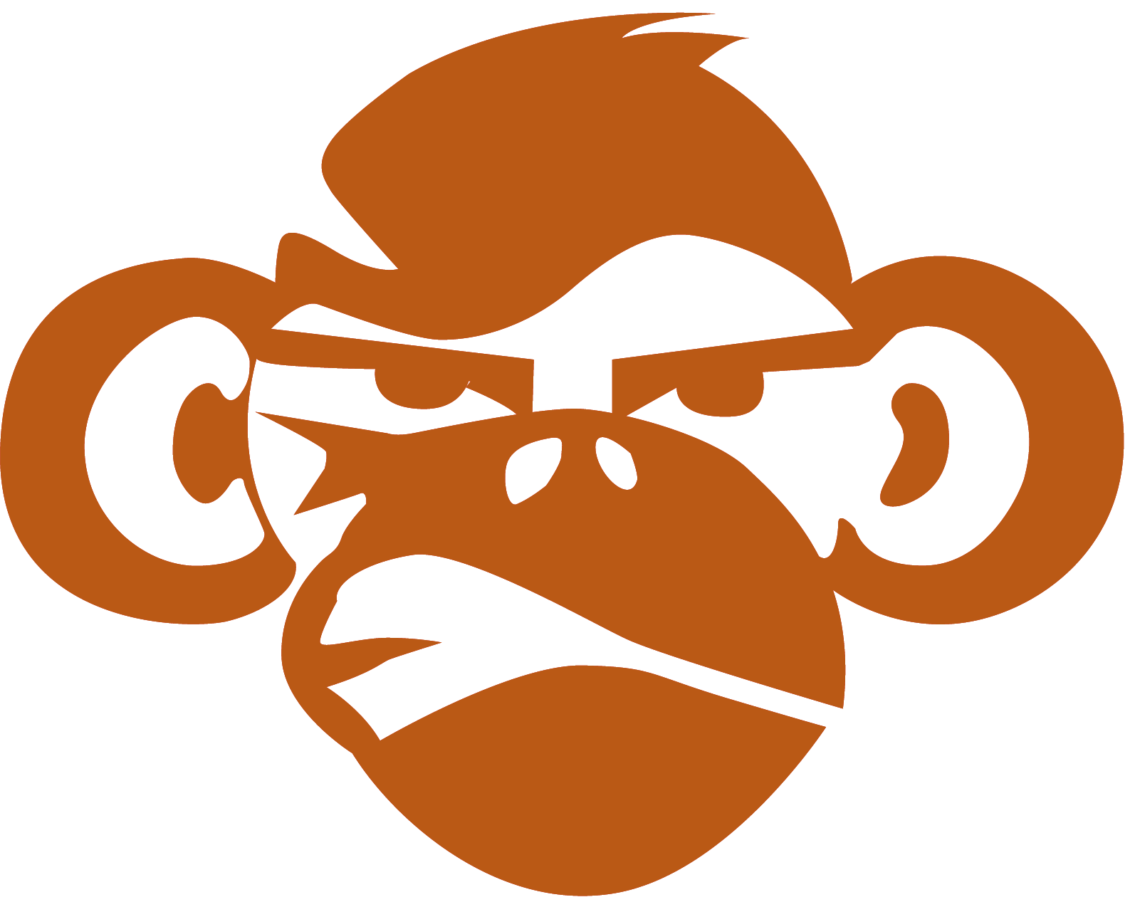 1594x1274 Monkey Face Png