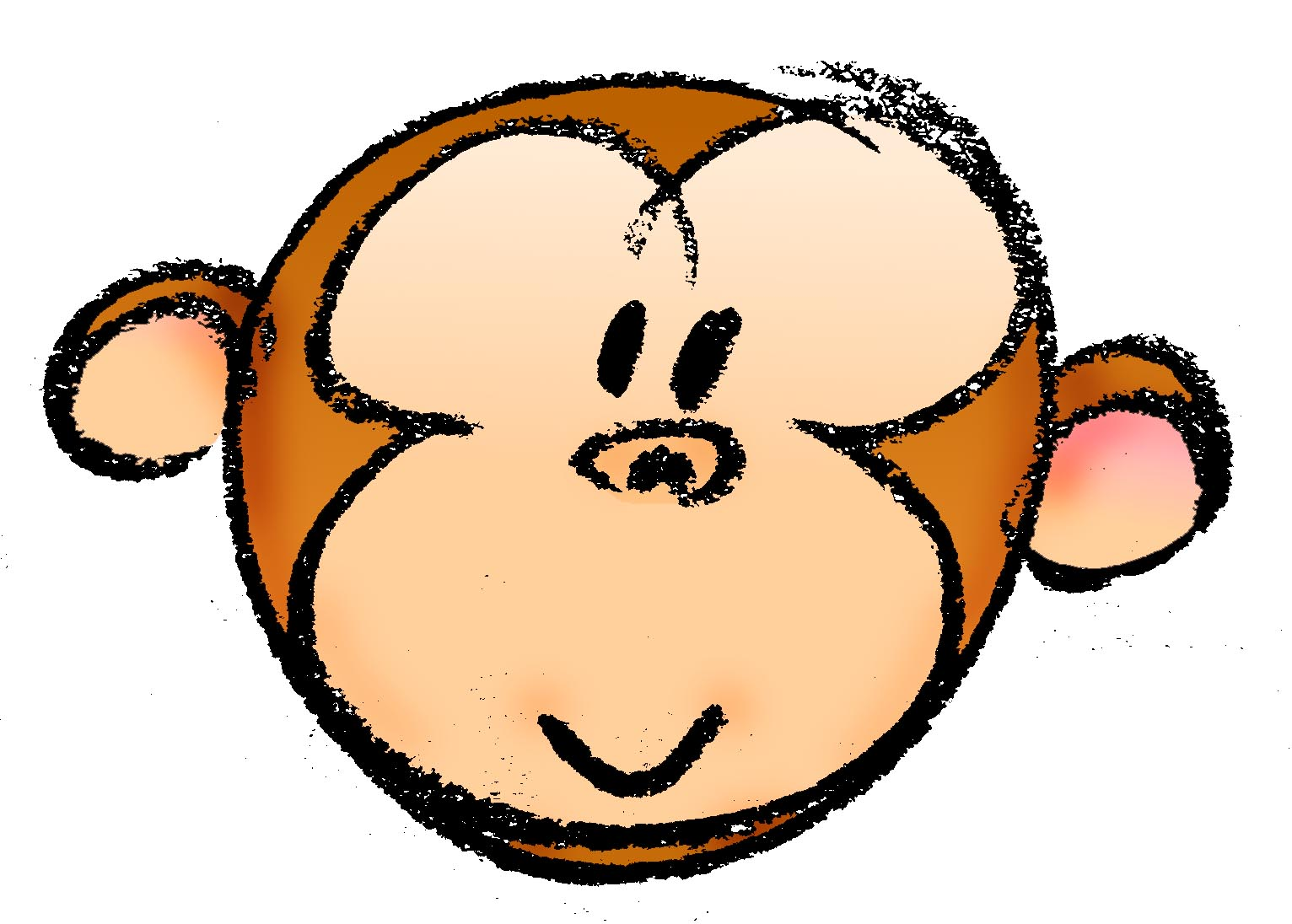 1532x1096 Free Cartoon Monkey Head, Hanslodge Clip Art Collection