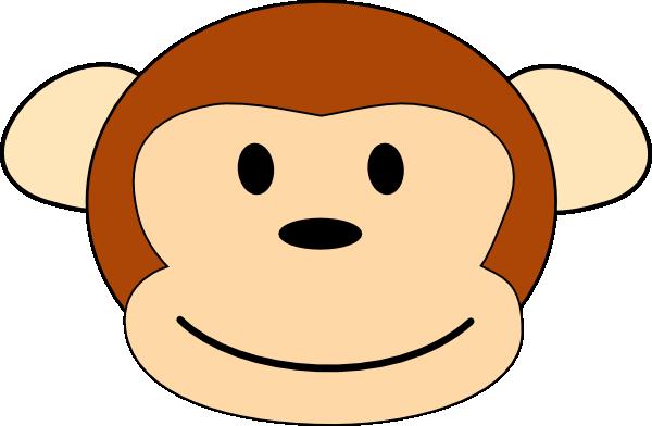 600x392 Monkey Head Pic Clip Art