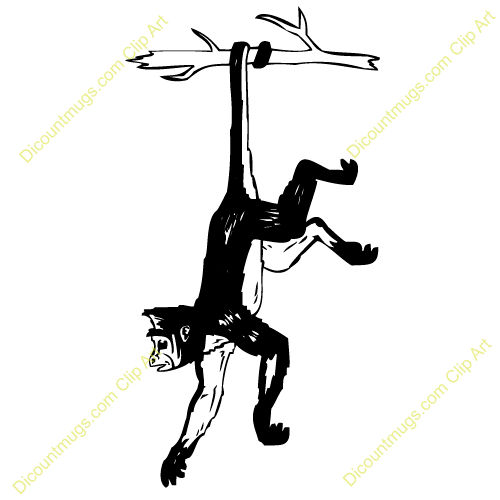 500x500 Monkey In A Tree Clipart Silohette Collection