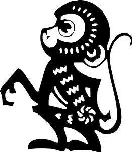 262x300 Monkey Silhouette Artsetmetiers Monkey, Silhouette