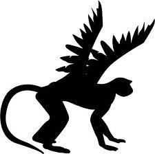 225x224 Flying Monkey Silhouette Halloween Wizard Of Oz Theme