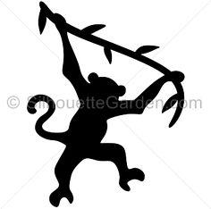 236x234 Swinging Monkey Silhouette