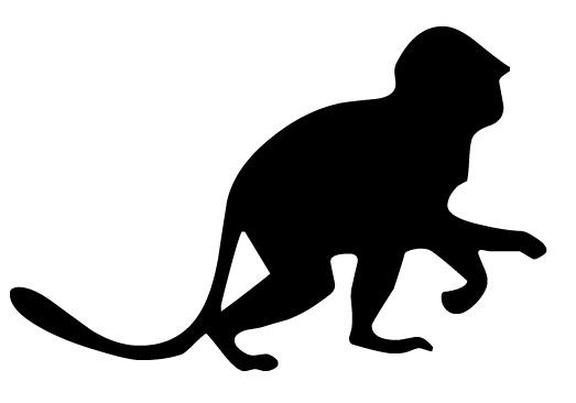 523x366 Baby Monkey Silhouette