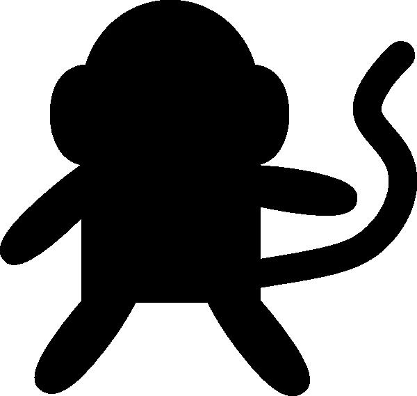 600x569 Black Monkey Clip Art
