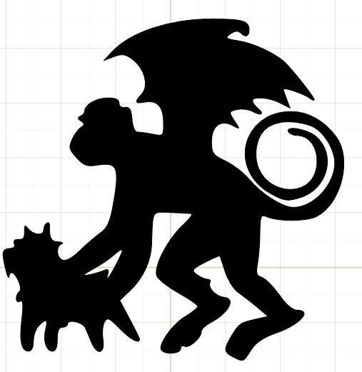 507x521 flying monkey silhouette halloween wizard of oz theme Pinterest