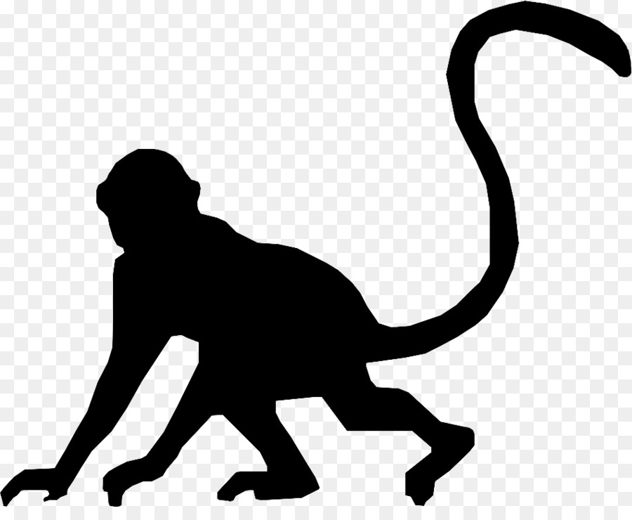 900x740 Cat Silhouette Monkey Clip art
