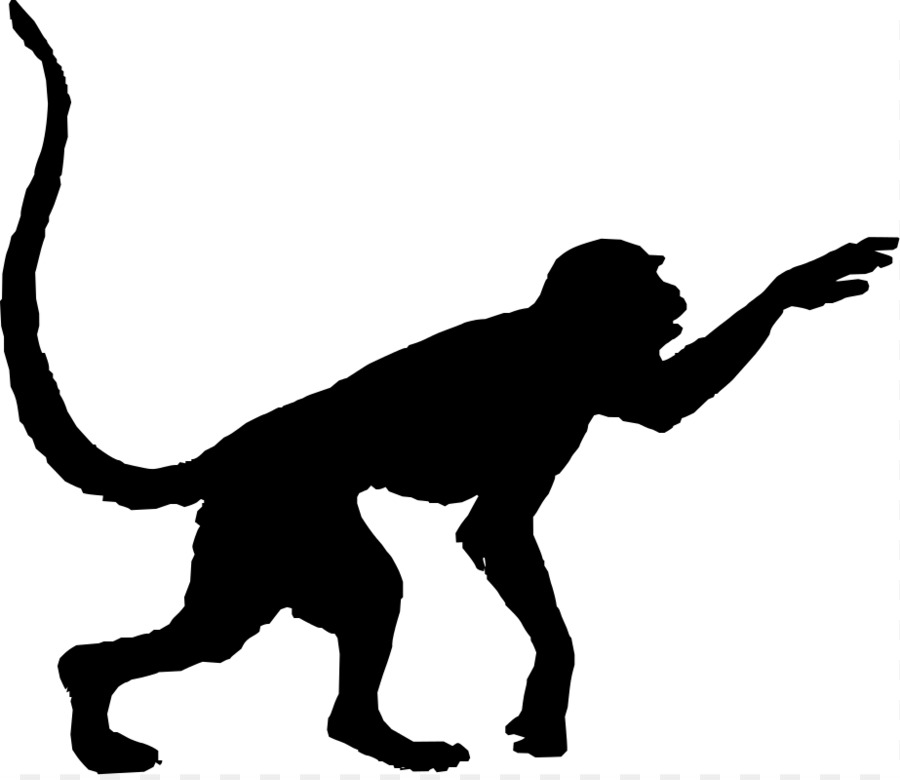 900x780 Red Faced Spider Monkey Silhouette Clip Art