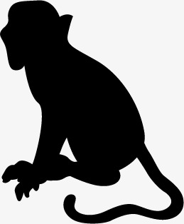 259x314 Monkey, Black, Monkey Silhouette, Monkey Vector Png And Vector