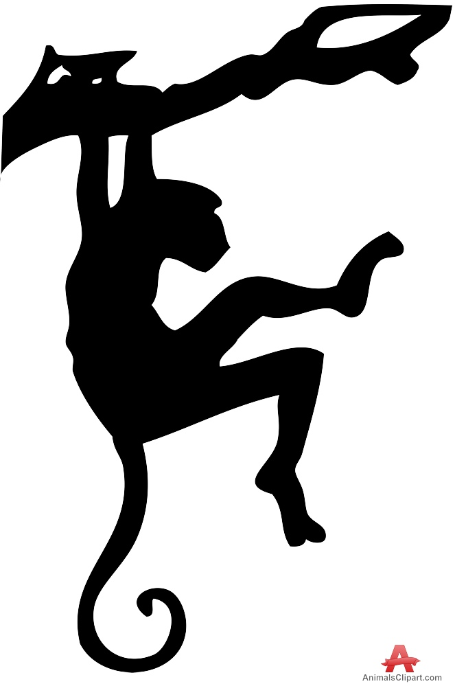 663x999 Monkey Hanging Silhouette Free Clipart Design Download