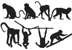 286x200 Monkey Silhouette Free Vector Art