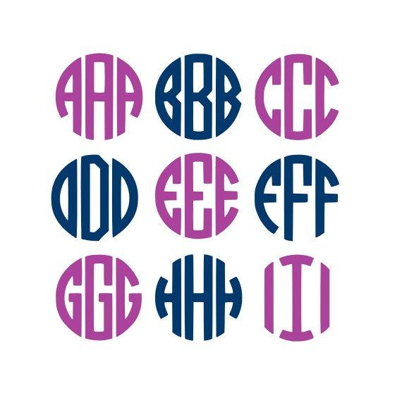 570x585 Sale Circle Monogram Alphabet Cut Files For Silhouette