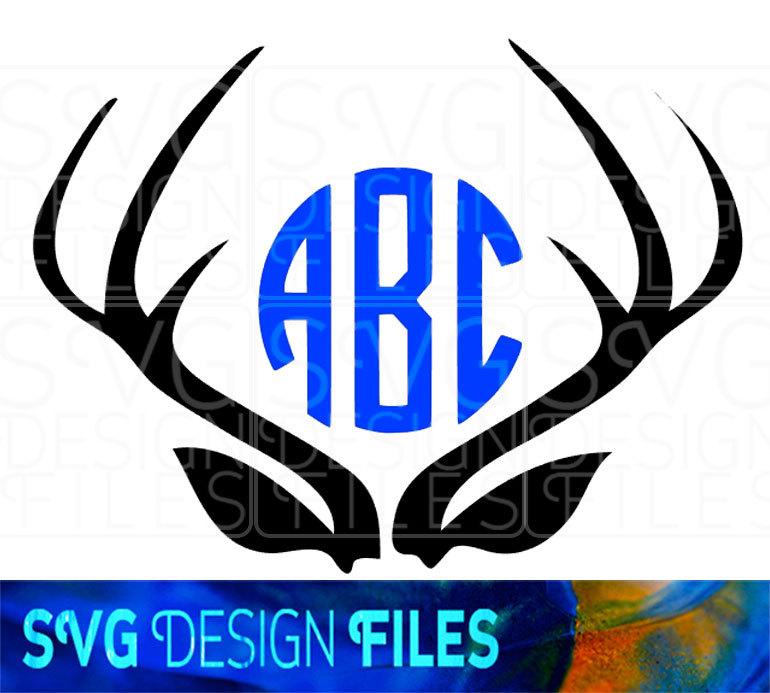 770x693 Deer Antler Monogram Frames. Stag Antler Svg Vector Files