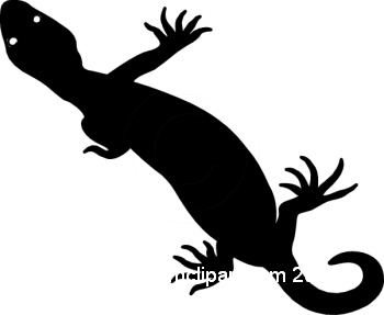 350x287 Silhouettes Clipart Gila Monster Silhouette 0609 16