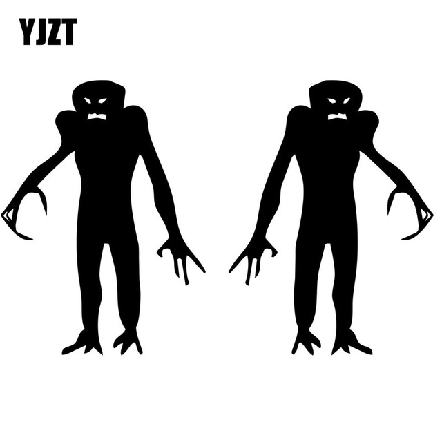 640x640 Yjzt 9cmx12cm Funny Zombie Monster (Left Amp Right) Silhouette Vinyl