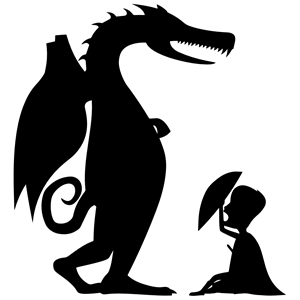 300x300 George Dragon Silhouette Clipart, Cliparts Of George