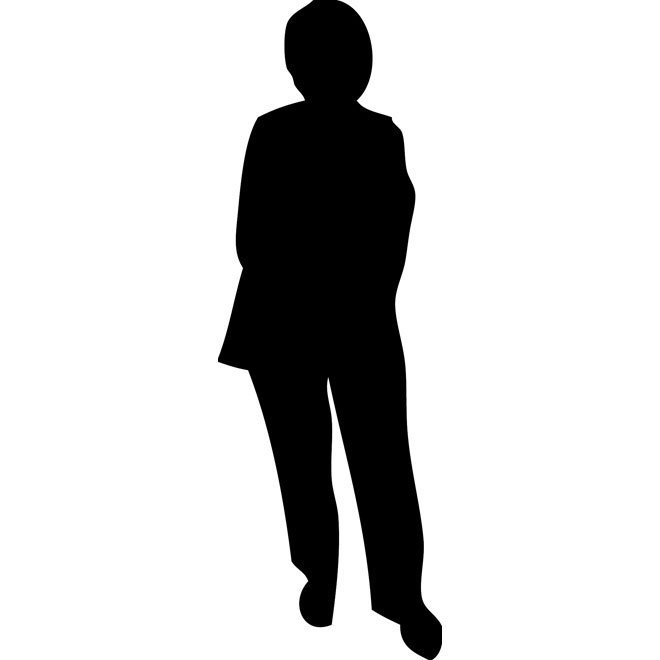 660x660 Old Lady Silhouette Free Vector Free Vectors Ui Download