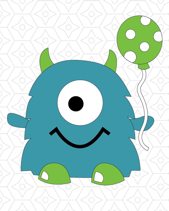 570x712 Birthday Monster Vector Design, Svg, Dxf And Ai Vector Files