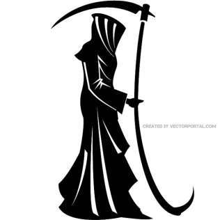 316x316 Black Death Monster Free Vector 123freevectors