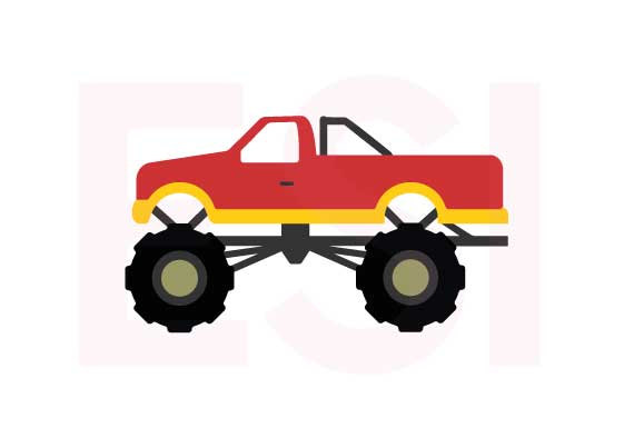 570x403 Monster Truck Svg, Dxf, Eps, Cutting Files Use With Silhouette