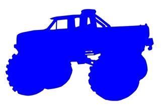 320x210 Monster Truck Silhouette 1 Decal Sticker