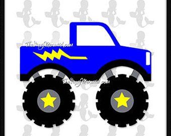 340x270 Exclusive Monster Truck Flag Cutting File, Flag Cut File, Truck