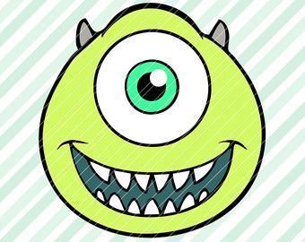 340x270 Mike Wazowski Monsters Inc Svg Dxf Eps Pdf Vector Cut Files Cricut