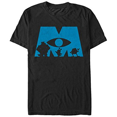 385x385 Fifth Sun Monsters Inc Logo Silhouette Mens Graphic T Shirt