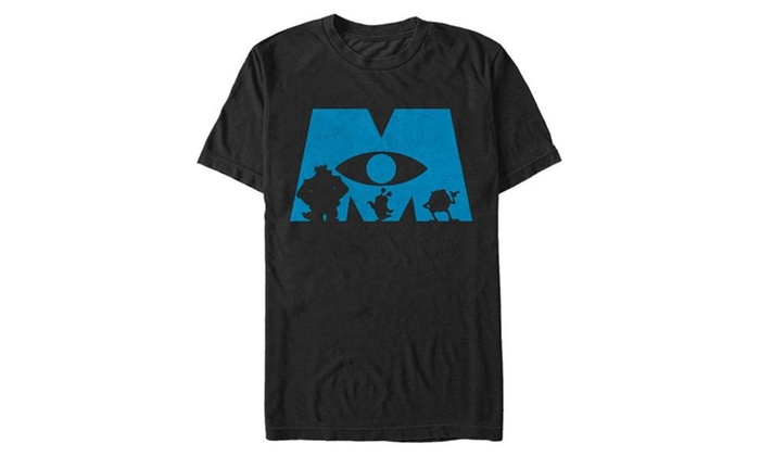 700x420 Fifth Sun Monsters Inc Logo Silhouette Mens T Shirt Groupon