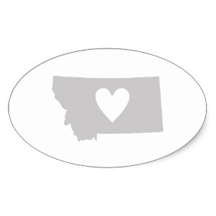 307x307 Heart Montana State Silhouette Gifts On Zazzle