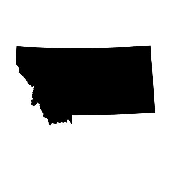 570x570 Montana State Outline Die Cut Decal Car Window Wall Bumper