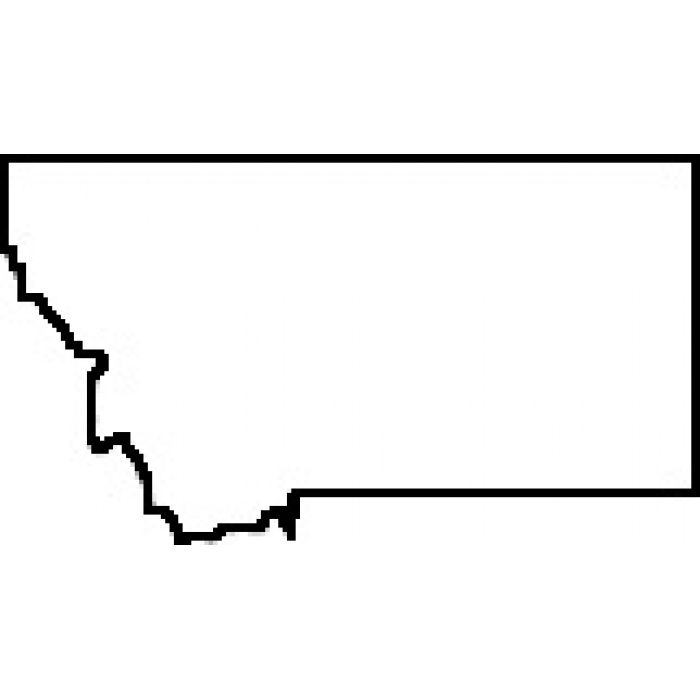 700x700 Blank Map Of Montana Teacher State Of Montana Outline Map Rubber