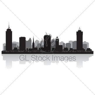 325x325 Edmonton Canada City Skyline Vector Silhouette Gl Stock Images