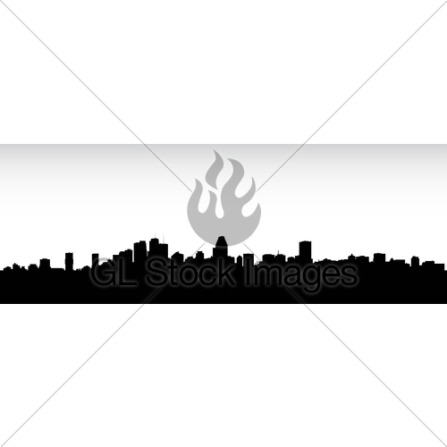 500x500 Montreal Skyline Silhouette Gl Stock Images