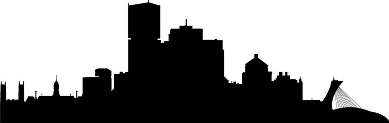 800x254 Montreal Skyline Stickers By Maximgertsen Redbubble