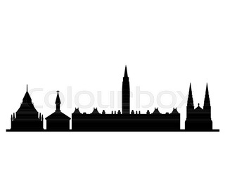 320x280 Ottawa, Canada Skyline Detailed Silhouette Stock Vector Colourbox