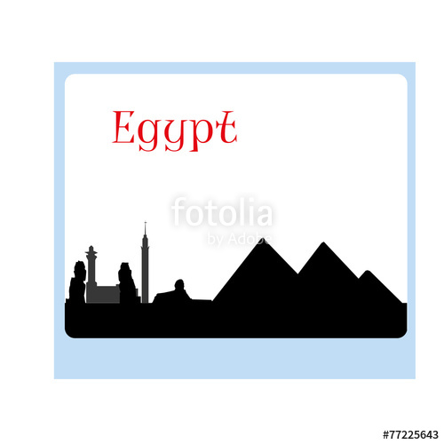 500x500 Black Vector Egypt Silhouette Skyline Stock Image And Royalty
