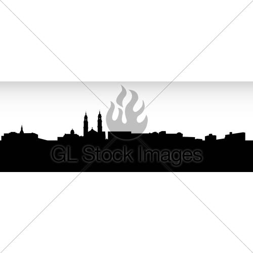 500x500 Ville De Saguenay Skyline Gl Stock Images