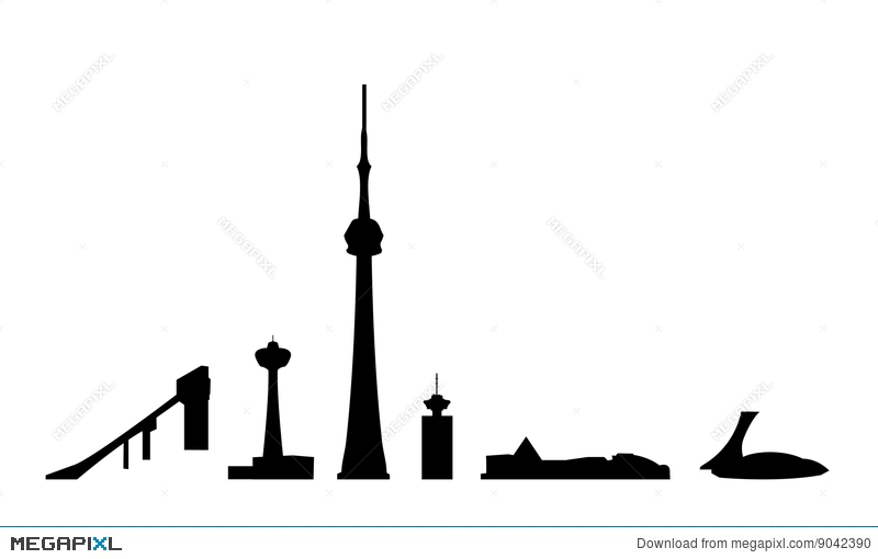 800x510 Canada Landmarks Isolated Vector Illustration 9042390