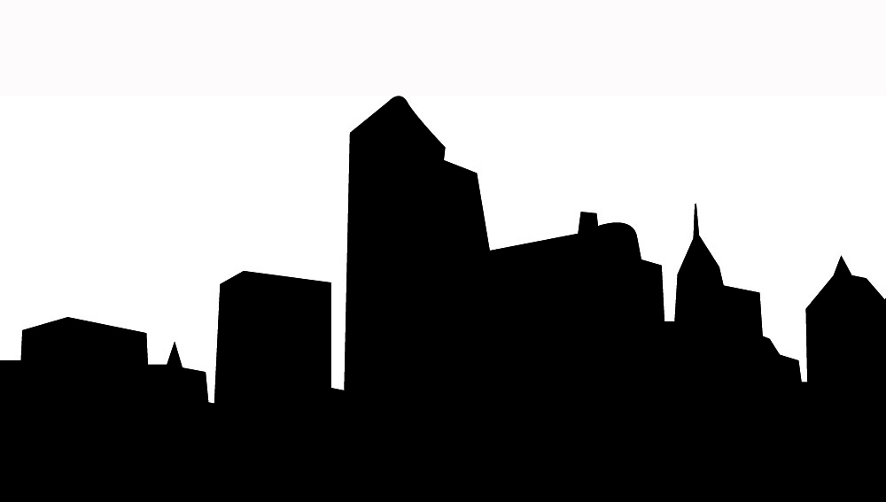 1000x567 City Skyline Silhouette Clip Art